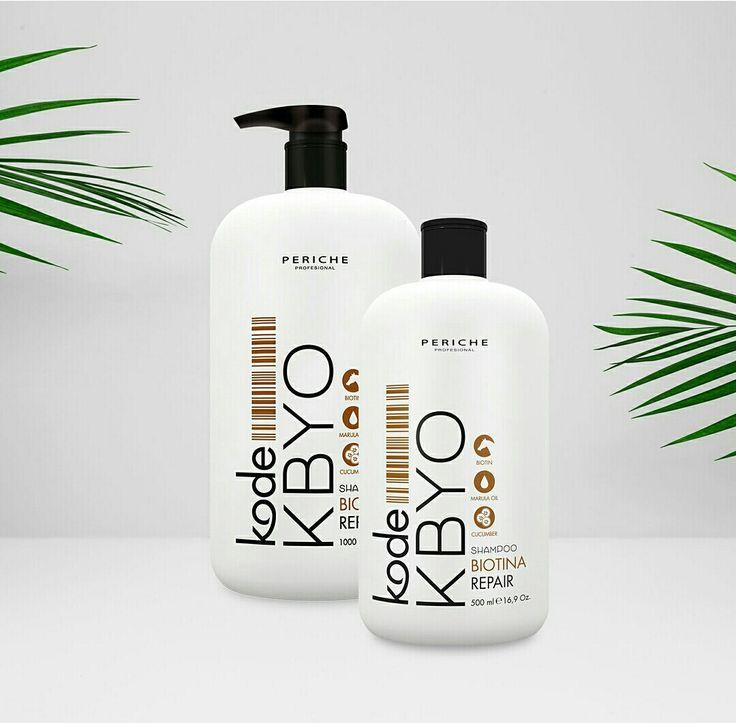 #Champú Kode KBYO con biotina derivado del champú para caballos, que fortalece el cabello y acelera su crecimiento. La vitamina B7 (biotina) ayuda contra la caída del #cabello y aumenta su brillo y sedosidad.