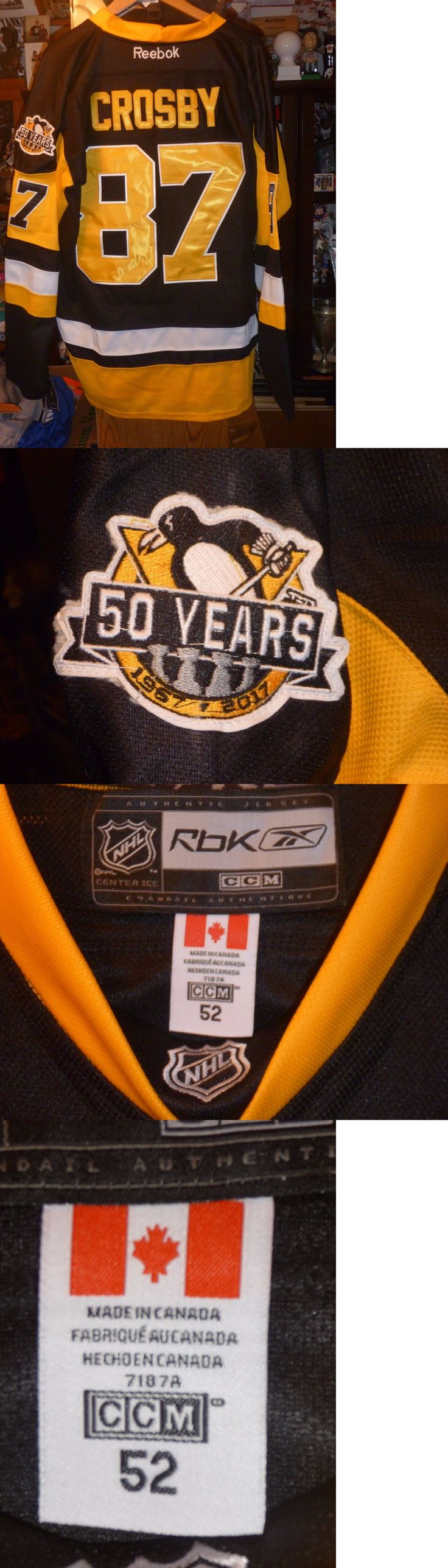 Hockey-NHL 24510: Sidney Crosby Pittsburgh Penguins 2017 Stanley Cup Finals Black Jersey 52 Xl -> BUY IT NOW ONLY: $89.99 on eBay!