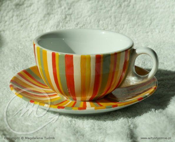 Filiżanka w paseczki - cup in stripes