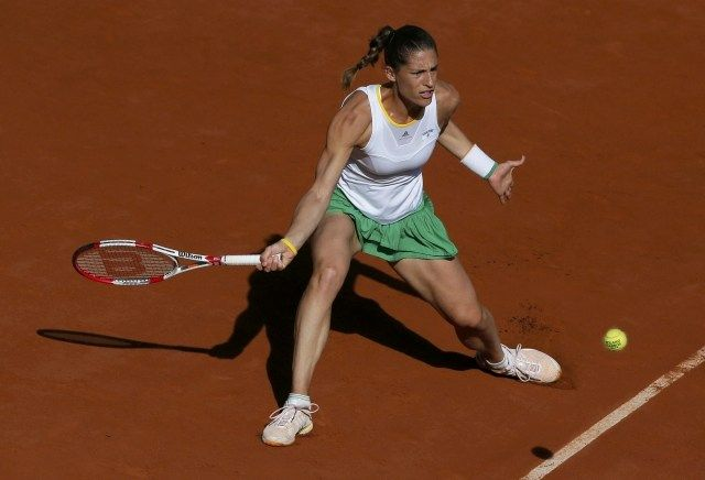 6/5/14 .. #4-Seed Simona Halep def. #28-Seed Andrea Petkovic in the SFs of the French Open. Andrea lost 2-6, 6-7.