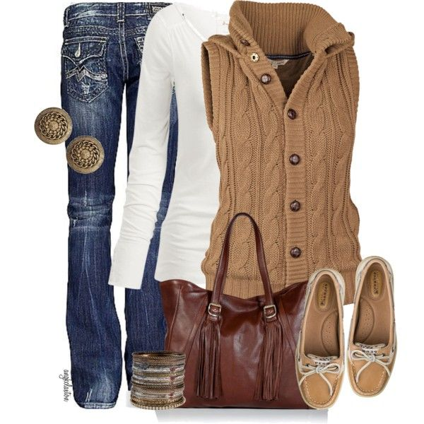 Comfy Fall...lovin' the sweater vest! Loving the fall outfits... =)