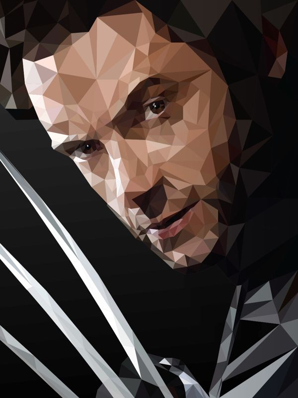 X-men - Low Poly Illustration by Abhishek Aggarwal  a.k.a AbhiKreationz, via Behance