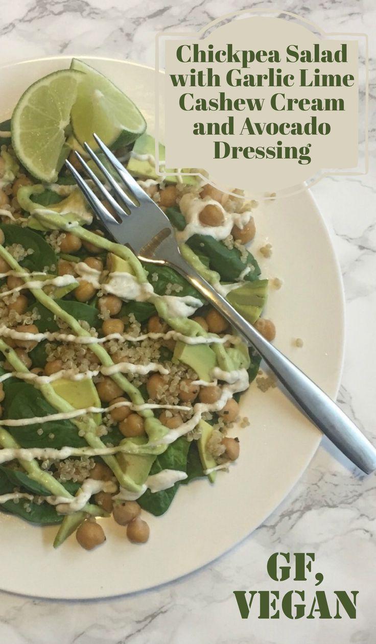 Chickpea Salad with Garlic Lime Cashew Cream