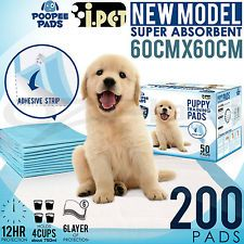 200pcs iPet 60x60cm Puppy Pet Dog Indoor Toilet Training Pads Super Absorbent