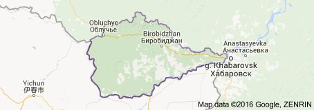Map of Jewish Autonomous Oblast