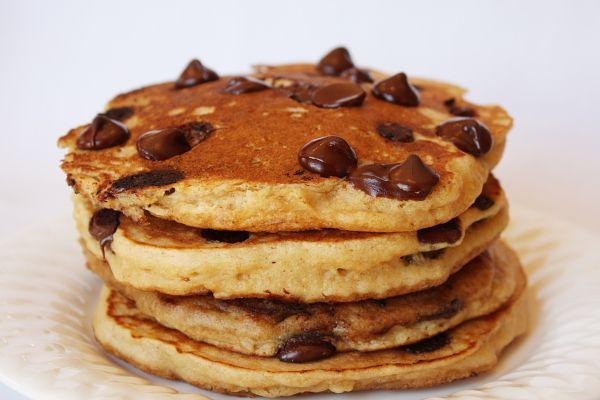 Whole Wheat Chocolate Chip Pancakes: Chocolate Pancakes, Chocolate Chips, Chocolates, Sweet, Yummy Food, Breakfast, Recipes, Chocolate Chip Pancakes