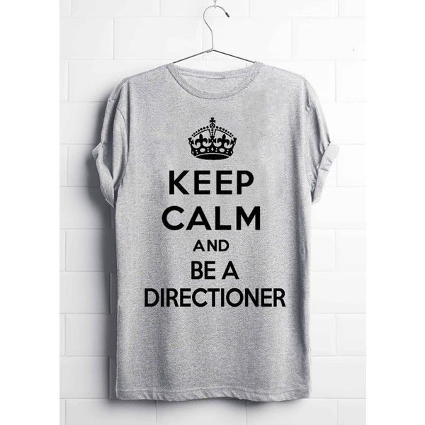 One Direction T-Shirt, Keep Calm And Be A Directioner, Niall Horan,... (€13) ❤ liked on Polyvore featuring tops, t-shirts, payne, short sleeve t shirt, short sleeve tee, jersey t shirt and heat transfer t shirt