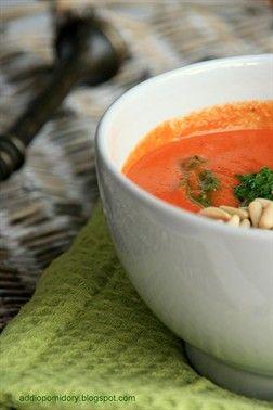Cream Tomato #Soup with Basil #Pesto // Zupa krem z pomidorów z bazyliowym pesto