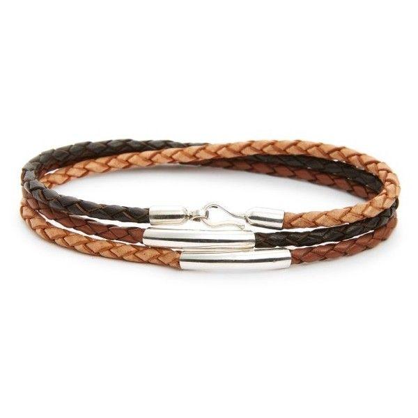 Men's Caputo & Co. Leather Wrap Bracelet (360 BRL) ❤ liked on Polyvore featuring men's fashion, men's jewelry, men's bracelets, brown combo, mens watches jewelry, mens leather bracelets, mens leather braided bracelets, mens wrap bracelet and mens bracelets