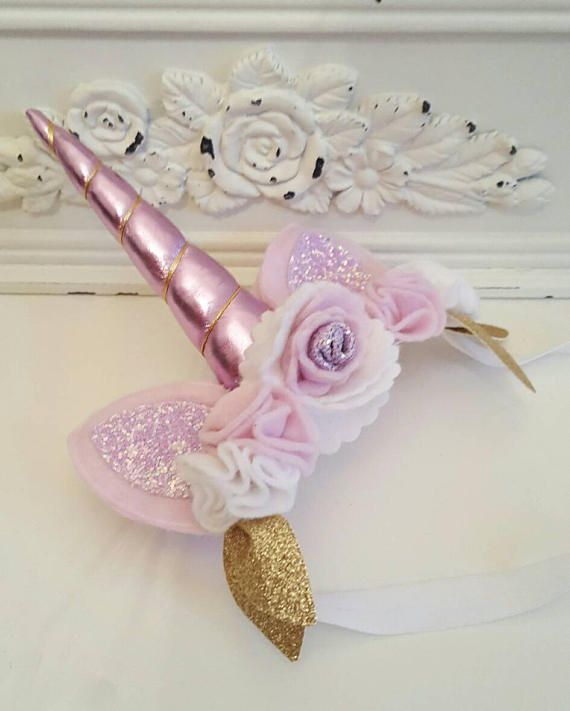 Diadema de cumpleaños de cuerno de unicornio unicornio brillo