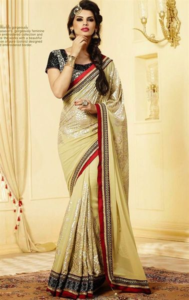 Picture of Tranquil Buttercream Color Admirable Saree