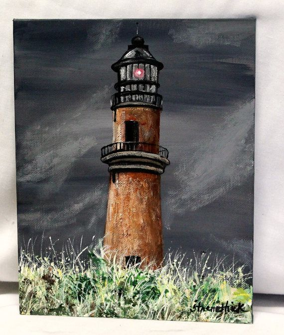 Lighthouse lighthouse painting seascape by ThisArtToBeYours, $85.00