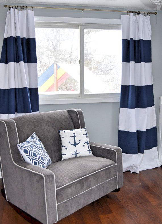 Hey, I found this really awesome Etsy listing at https://www.etsy.com/listing/212405765/custom-navy-blue-striped-curtains