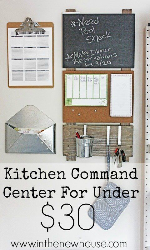 Delightful Create This Super Cute Command Center On A Tight Budget To Get Your Home  And Family