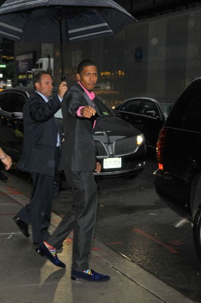 The Socks!! Nick Cannon - Nick Cannon Stops by 'Late Show with David Letterman'