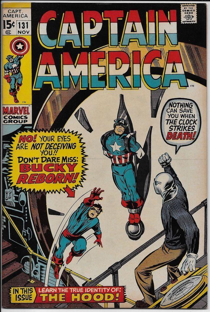 Captain America #131 VF+ 8.5 Marvel 1970 Bucky The Hood Baron Strucker Red Skull