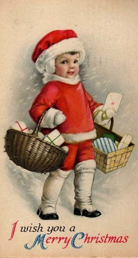 Old Christmas Post Сard — (454x850)