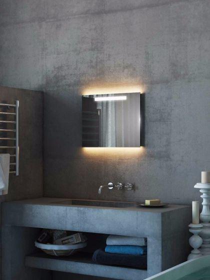 Argent Wide Light Bathroom Mirror