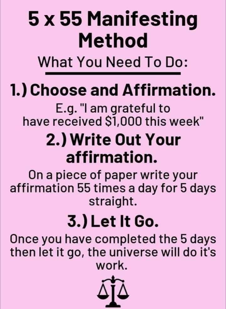 Manifest Method Numerology Reading Top Manifestation Affirmations Spiritual Manifestation Money Affirmations