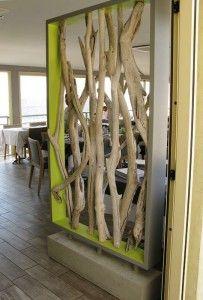 Paravent bois flotté