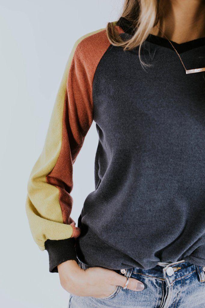 7e5b659379c Color Block Pullover