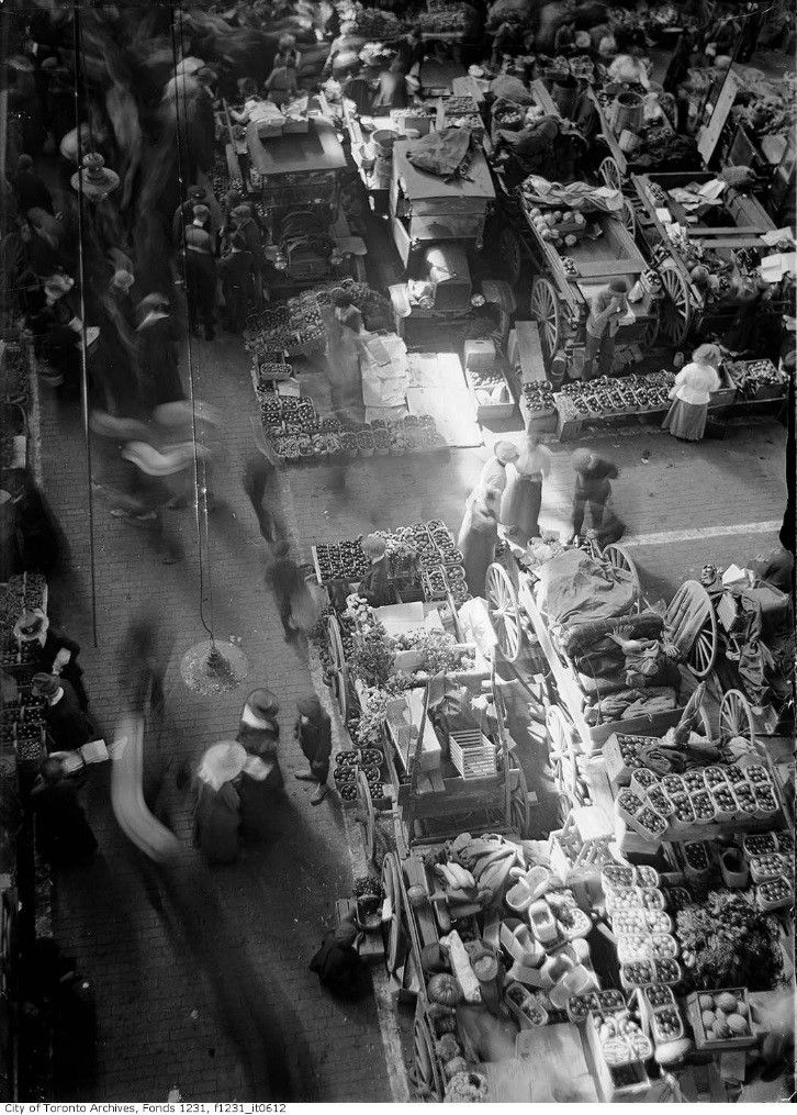 St. Lawrence Market in Toronto – circa 1919