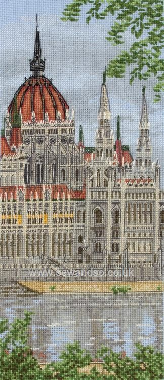 Hungarian Parliament Building http://www.sewandso.co.uk/Products/Hungarian-Parliament-Building-Cross-Stitch-Kit__ANC-PCE0810.aspx