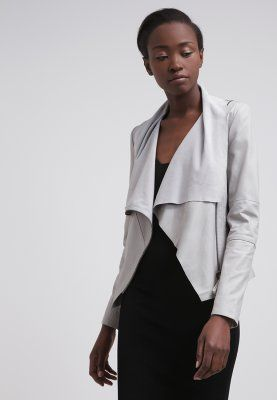 Valentine Leather Jacket in Ash Grey #drapey #Draped #leatherjacket # grey