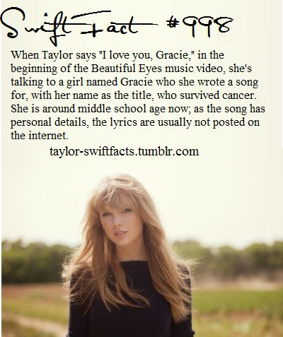 I actually listened to Gracie once and it's obviously unreleased and it's such a cute but sad song