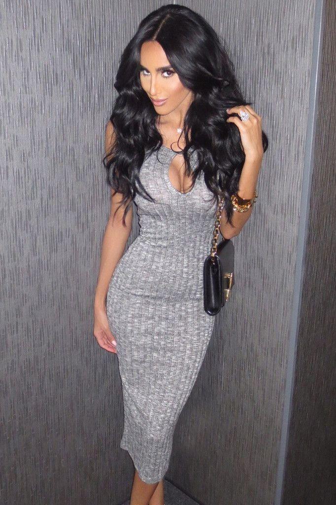 Bella Dress - Grey