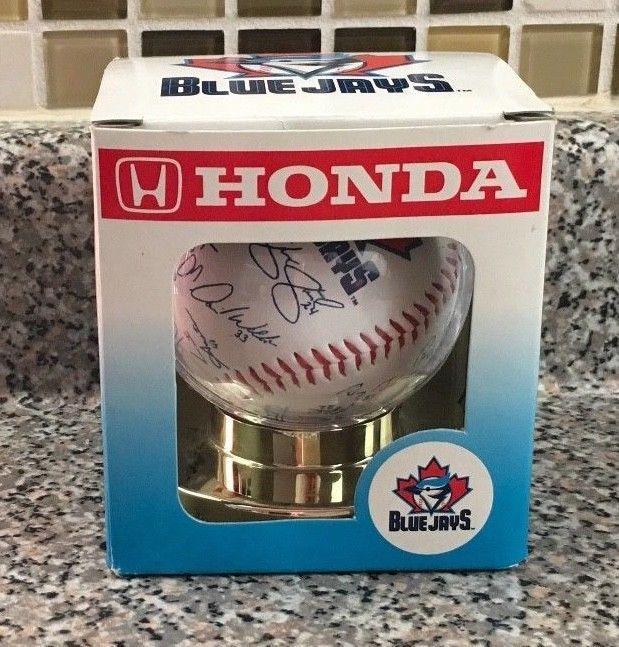 Toronto Blue Jays Honda Team Replica Signature Autographed Baseball With Box #TorontoBlueJays