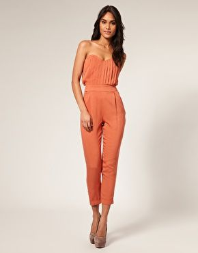 ASOS Pleated Bust Jumpsuit
