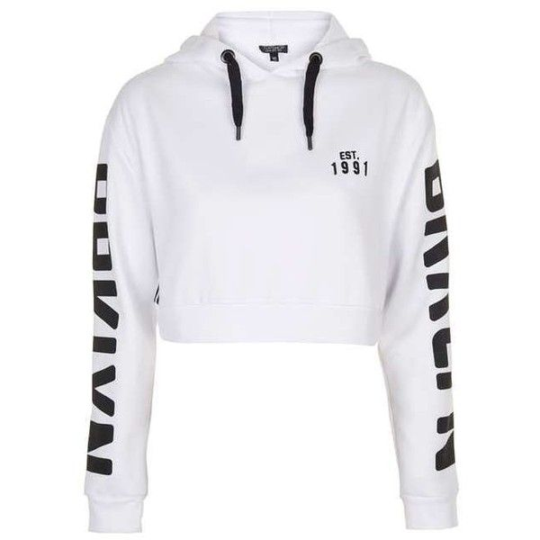 TopShop Brooklyn Sports Hoodie (€11) ❤ liked on Polyvore featuring tops, hoodies, sport hoodie, topshop hoodies, sports tops, hooded sweatshirt and sports hoodie
