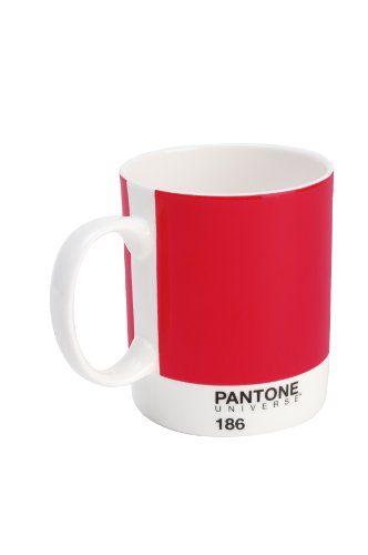 Mug Pantone en Porcelaine couleur Rouge ketchup