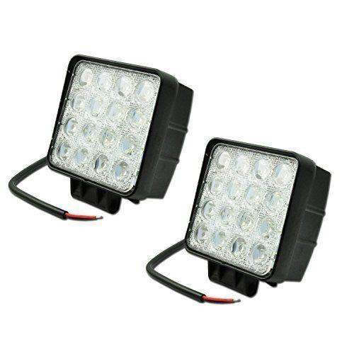 (Garantie d'un an) 2 X 48W Lampe de Travail Phare Anti-brouillard LED pour Jeep SUV ATV Camion Bateau by LIHAO (60 degrés):…