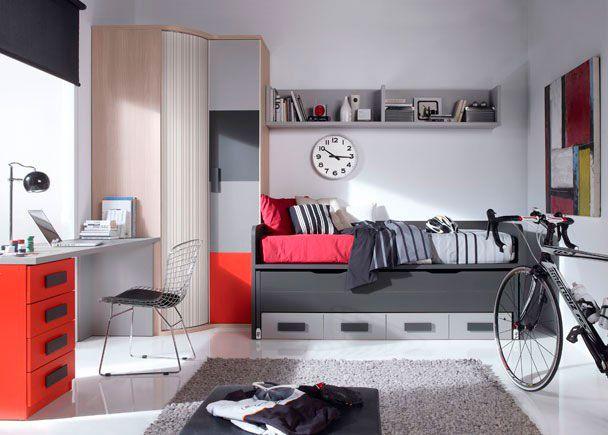 habitacin juvenil con armario