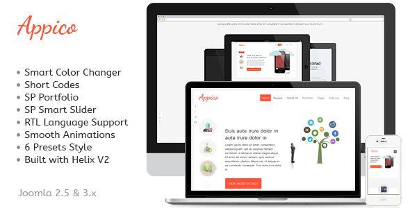 Appico - Responsive Joomla App Template - Technology Joomla
