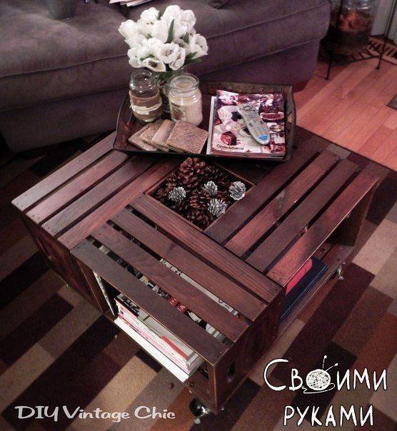 Кофейные столики из ящиков