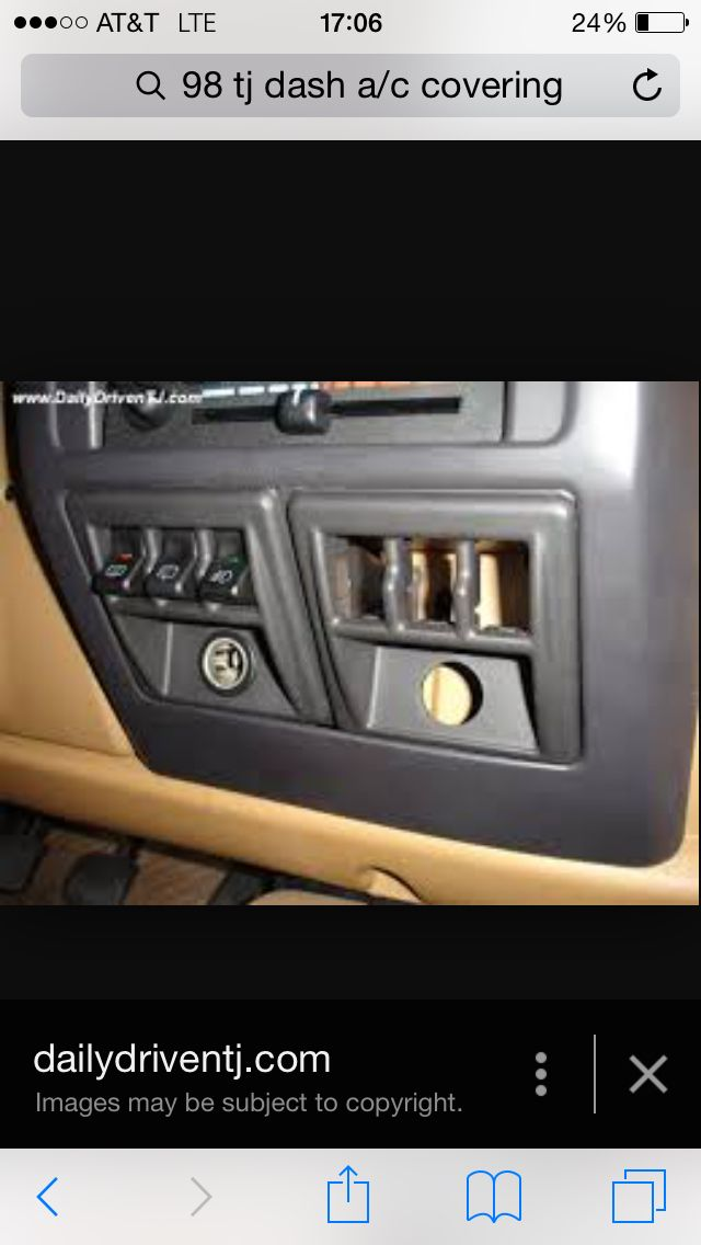 Replace the ash tray in your TJ with the stock switch panels and gain 3 more switch slots!