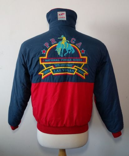 Vintage PRCA National Finals Rodeo 30th Anniversary Lad Vegas Jacket M USA 1988