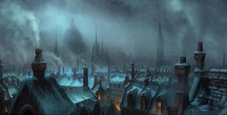 Dickens London Winter Skyline