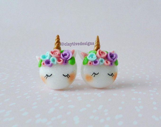 Pastel Arco Iris Unicornio Collar Lindo Kawaii