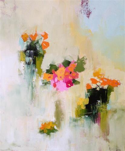 """Daily Paintworks - """"Little Bouquets"""" - Original Fine Art for Sale - © Pamela Munger"""