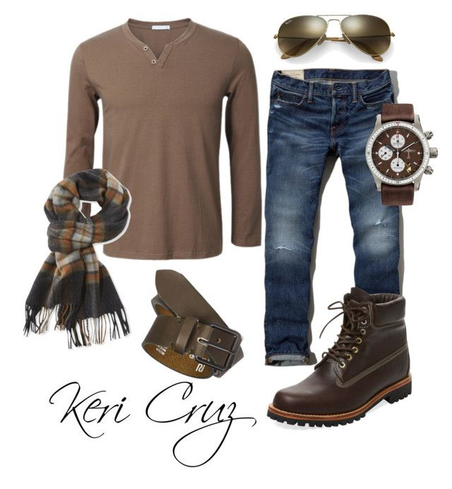 Men's Fall Fashion by keri-cruz on Polyvore featuring polyvore Abercrombie & Fitch Timberland Bremont Ray-Ban L.L.Bean River Island men's fashion menswear clothing