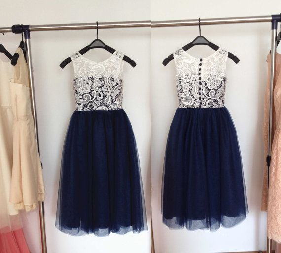 Hey, I found this really awesome Etsy listing at https://www.etsy.com/listing/249100756/lace-flower-girl-dresses-navy-blue-tulle