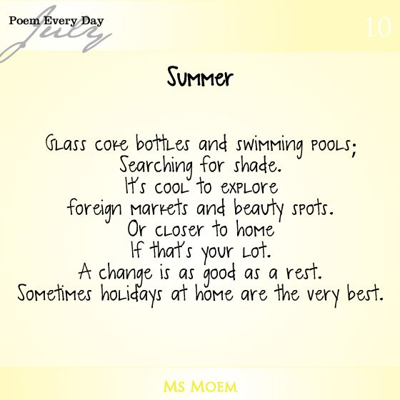 A Poem About Summer | #DailyPoemProject Poem 10 | Ms Moem | Poems. Life. Etc.