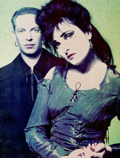 Siouxsie & Steve, early '90s.