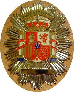 PLACA INSIGNIA DE POLICIA PORTUARIA / PLACA POLICIA DE PUERTO