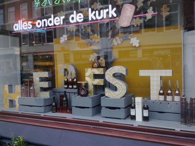 Herfst / Autumn Shop window. Liquor store by Caroline Dijkman www.blik.nu