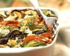 Tian de légumes à la ricotta